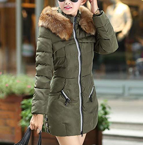 Femme Hiver Manches en Longues Fourrure Slim Fausse Coat avec Capuche El Fashion Manteau Fit rrn41qxw5Z