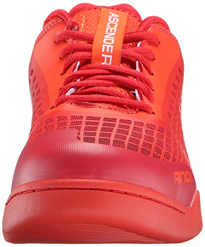 And1 En 1 Mens Ascender Lage Basketbalschoen Cherrytomaat / Vurig Rood / Helder Wit