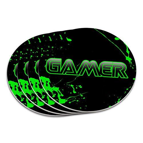 Gamer Paint Splatter Gaming Coaster
