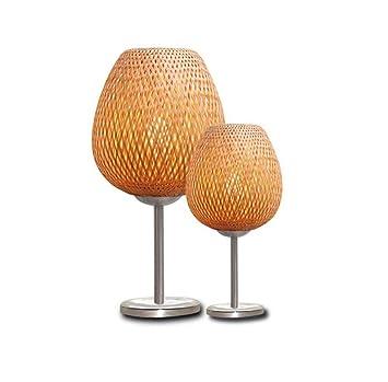 GAOLIQIN Lámpara de Mesa Creativa de bambú, Estilo japonés ...