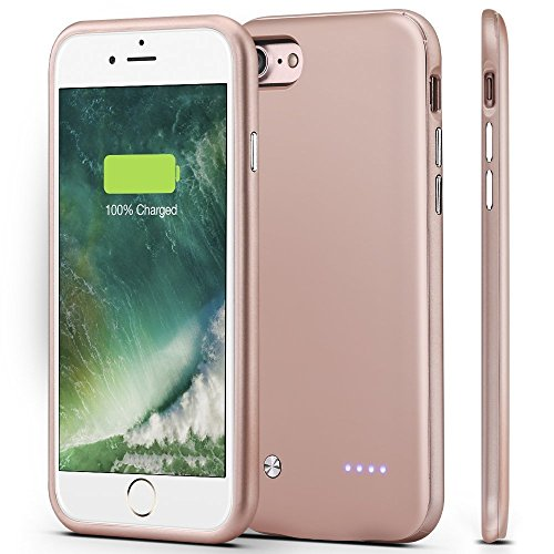 iPhone 7 Battery Case,Sgrice Ultra Slim Portable Charger for iPhone 7(4.7 inch), 3000mAh Rechargeable Extended Battery Case Charging Case juice pack Battery Pack-Rose Gold
