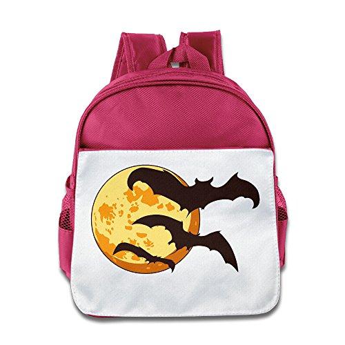 XJBD Custom Superb Halloween Children School Bag For 1-6 Years Old Pink (Halloween 3 3d Trailer)
