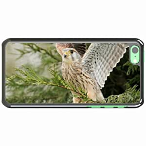 iPhone 5C Black Hardshell Case predator wings wood sweep Desin Images Protector Back Cover