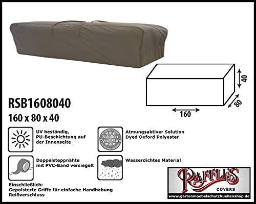 rsb1608040 Coussin Sacoche pour meuble Lounge auflagen Sacoche de rangement/Cover pour salon coussin, Sac pour meubles de jardin coussins, sacoche de rangement pour fauteuil à dossier haut auflagen: Amazon.es: Jardín