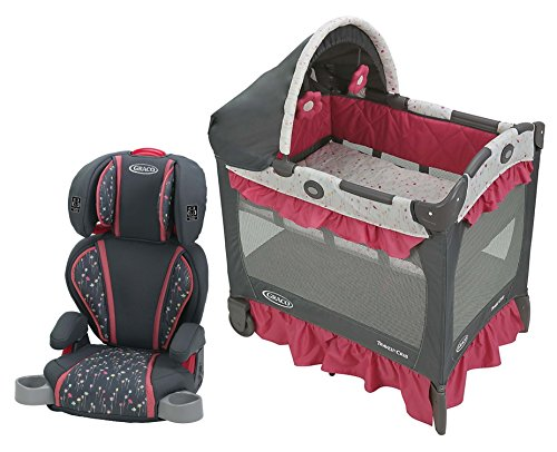 Graco Travel Lite Crib with Highback TurboBooster Car Seat