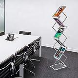 AkTop Foldable Magazine Catalog Brochure Rack