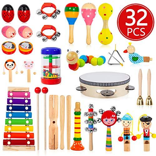 AOKIWO Kids Musical Instruments,...