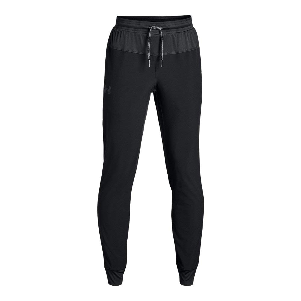 Under Armour Boys Jersey Lined woven Pants, Black (001)/Graphite, Youth Large by Under Armour