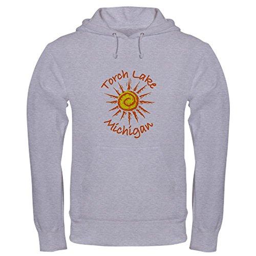 CafePress Torch Lake, Michigan Pullover Hoodie, Classic & Comfortable Hooded Sweatshirt Heather Grey