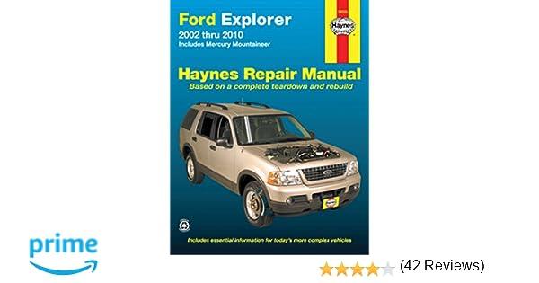 Ford explorer mercury mountaineer 2002 2010 haynes repair ford explorer mercury mountaineer 2002 2010 haynes repair manual haynes 9781563928116 amazon books fandeluxe Image collections