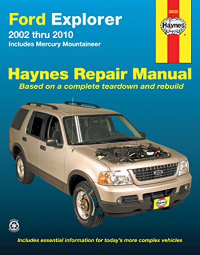 Ford Explorer & Mercury Mountaineer, 2002- 2010 (Haynes Repair Manual) - 2002 Mercury Mountaineer Manual
