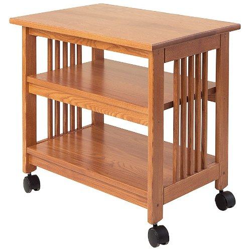 Manchester Wood Mission Printer Cart - Golden Oak - Manchester Bedroom Furniture