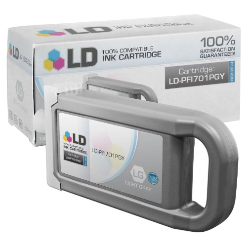 LD Compatible Replacement for Canon PFI-701PGY High Yield Photo Gray Pigment Inkjet Cartridge for use in Canon imagePROGRAF iPF8000, and iPF9000 (Canon Imageprograf Ipf8100 Photo)