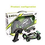 SZJJX RC Cars Rock Off-Road Vehicle Crawler Truck 2.4Ghz 2WD High Speed 1:20 Radio Remote Control Racing Cars Electric Fast Race Buggy Hobby Car SJ211 Green