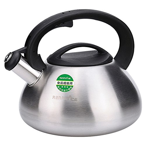3L Kettle Home Kitchen Stainless Steel Whistle Kettle Outdoor Hiking Camping Large Capacity Kettle Coffee Pot