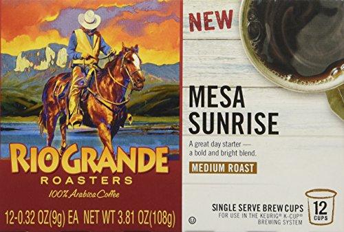 Rio Grande Roasters Mesa Sunrise, Medium Roast, Single Serve Cups, 12 Count