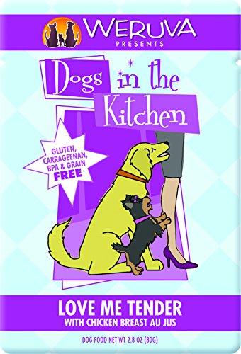 Weruva Grain (Weruva Dogs in the Kitchen, Love Me Tender with Chicken Breast Au Jus Dog Food, 2.8oz Pouch (Pack of 12))