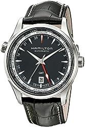 Hamilton Men's H32695731 Jazzmaster Analog Display Automatic Self Wind Black Watch