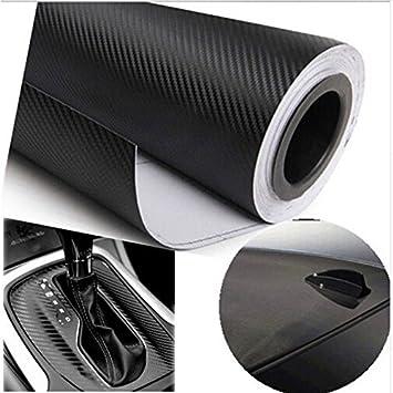 Vinilo adhesivo impermeable 3D con efecto fibra de carbono para forrar componentes de coche de 200 x 50 cm
