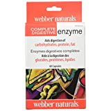 Webber Naturals Complete Digestive Enzymes, Blister–packed,60 Count