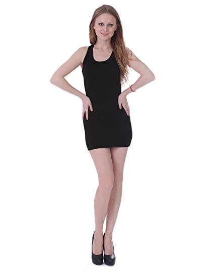 d171fc16a22 HDE Women s Sexy Short Mini Dress Racerback Tunic Top Clubwear (Black)