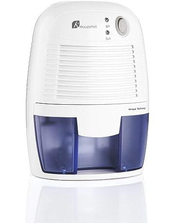 Houzetek Deshumidificador de Aire Electrico, Mini Deshumidificador 500ml Portátil y Silencioso, Purifica Aire y
