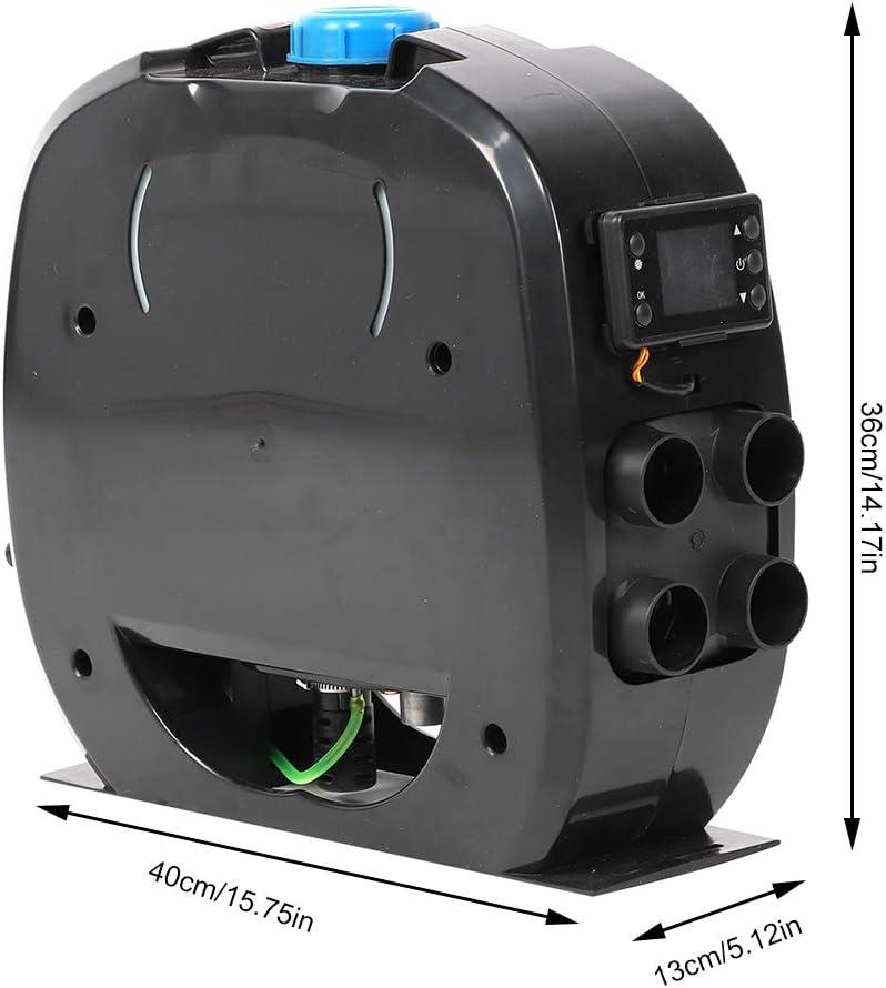 5KW 4 Holes Diesel Parking Heater 12V Diesel Heater Muffler Parking Air Heater with Knob Switch for RV Motorhome Trucks Boats and Trailer Diesel Air Heater