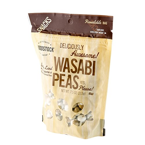 Woodstock Farms Wasabi Peas, Natural, 8-Ounce Bags (Pack of 8) ( Value Bulk Multi-pack) by Woodstock Farms (Image #1)
