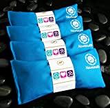 Namaste Yoga Eye Pillows | Lavender Eye Pillow for Yoga | Set of 4 | Turquoise Cotton by Happy Wraps