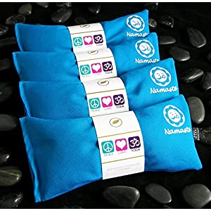 Happy Wraps Namaste Yoga Lavender Eye Pillow Turquoise Set of 4