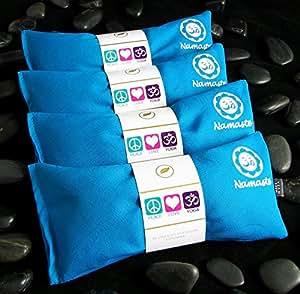 Namaste Yoga Lavender Eye Pillow - Turquoise - Set of 4