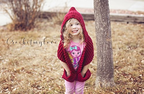 Knit Hooded Scarf Pattern Knitting Pattern Kindle Edition By