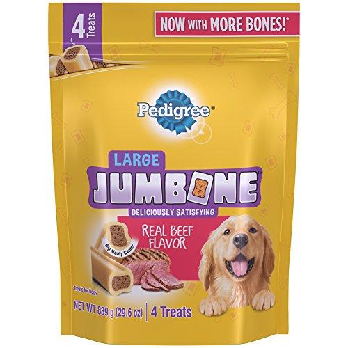 DISCONTINUED: Pedigree Jumbone Real Beef Flavor Large Dog Treats (4 Treats), 29.6 oz