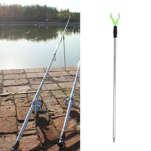 Polished Aluminum Racks Rod (JECCE Adjustable Sound Metal Fishing Rod Rack Frame)