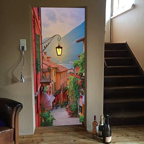 murimage Papel Pintado Puerta Calleja 86 x 200 cm Incluye ...