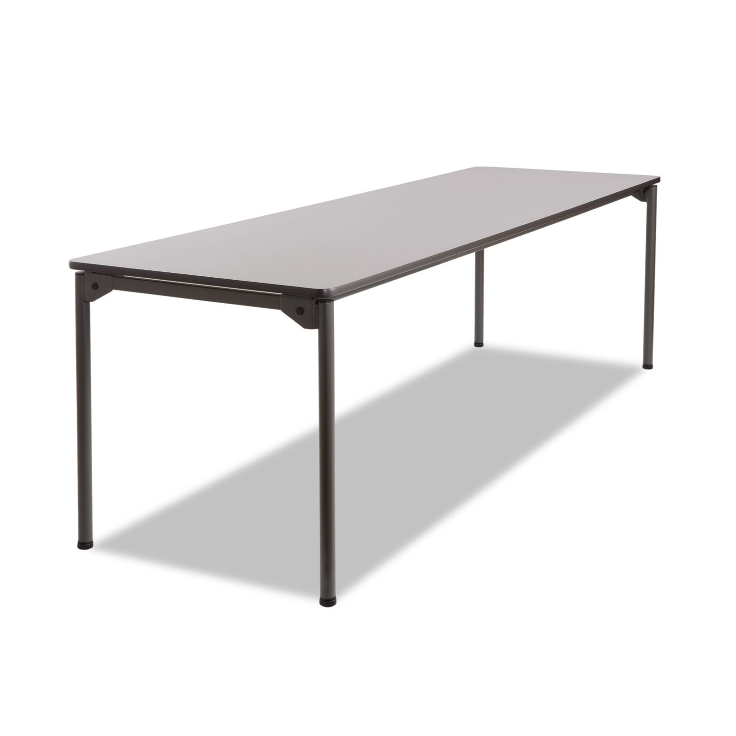 Iceberg 65837 Maxx Legroom Rectangular Folding Table, 96w x 30d x 29-1/2h, Gray/Charcoal