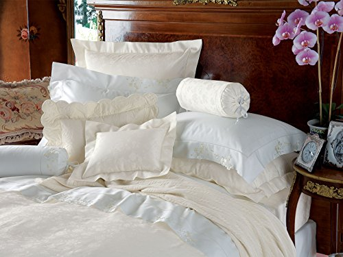 Emma Duvet Covers (Comforter Covers), White (Twin, each) (Comforter Twin Set Emma)