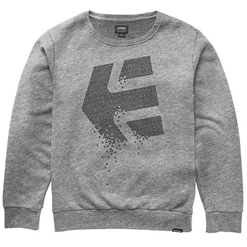 Etnies Men's Matrix Crew Fleece Sweater,Medium,Grey/Heather