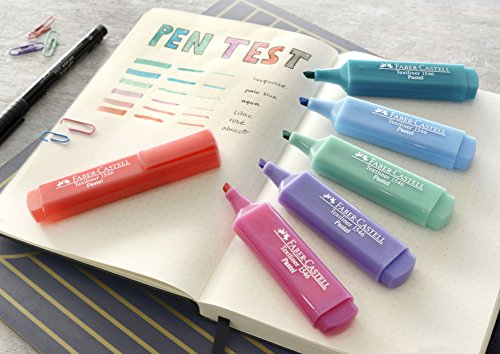 Faber-Castell 154681 Textliner Pastel Highlighter Pen (Pack of 8)