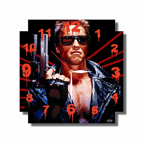 The Terminator - Arnold Schwarzenegger 11.4'' Handmade Wall Clock ( ACRYLIC GLASS ) - Get unique décor for home or office – Best gift ideas for kids, friends, parents and (Soul Mate Glass Block)