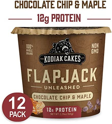 Kodiak Cakes Pancake On the Go High Protein Snack, Chocolate Chip & Maple, 2.29 Ounce (Pack of 12)