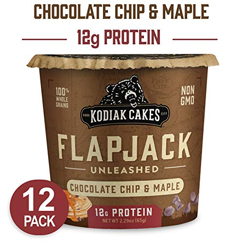 Kodiak Cakes Pancake On the Go High Protein Snack, Chocolate Chip & Maple, 2.29 Ounce (Pack of - Chip Cake Chocolate