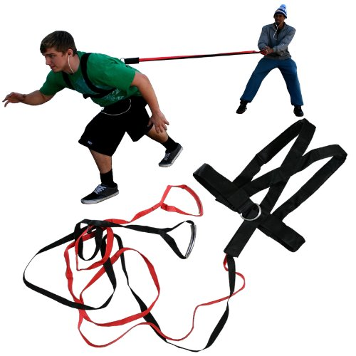 Quick Release (2) Two Person Power Resistance Speed Strength Training Harness Band