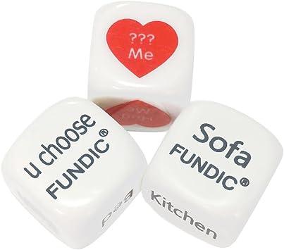 fundic dados fults para enamorados Funny dice game para pareja regalo de amor: Amazon.es: Juguetes y juegos