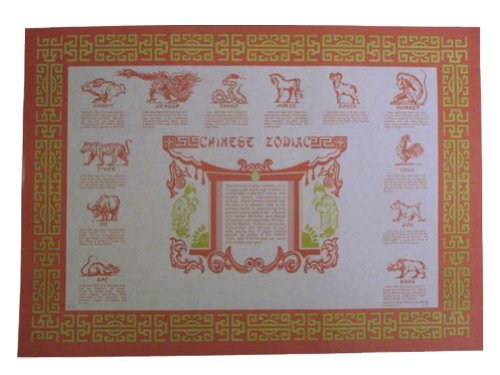 Chinese Paper Plates (Chinese Zodiac Paper Placemats 50 Pieces)