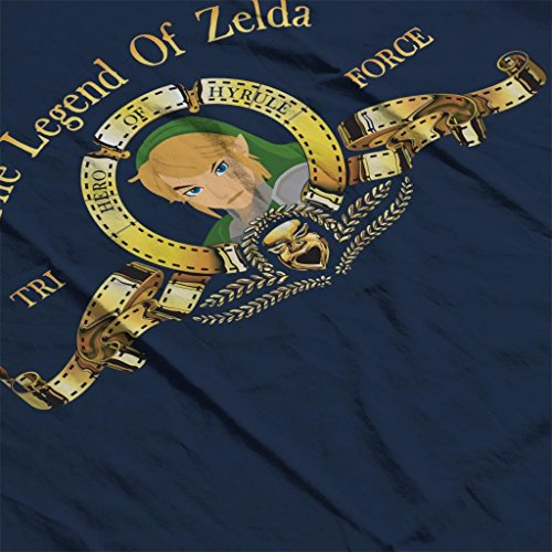 Movie Cloud Blue Sweatshirt Women's Triforce Legend Of Zelda City Hooded 7 Logo Navy ZxrqYwUZ7