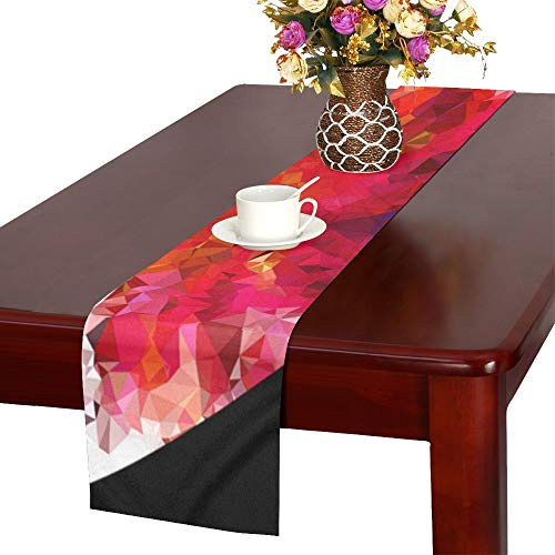 QYUESHANG Colorful Prismatic Chromatic Rainbow Gem Ruby Table Runner, Kitchen Dining Table Runner 16 X 72 Inch for Dinner Parties, Events, ()