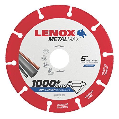 Depot Blades Diamond (Lenox Tools 1972922 METALMAX Diamond Edge Cutoff Wheel, 5