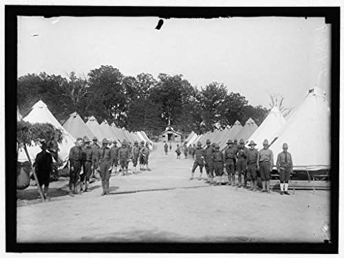 24 x 18 Art Canvas Wrapped Framed Print of Fort Humphries. Army Post in Virginia. Tent Encampment. 1917 Harris & Ewing 95a - Tent Virginia