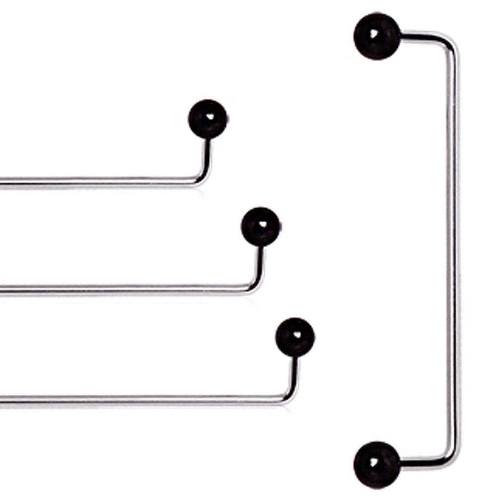 "316L Steel Surface Barbell 14Ga~1/"",1-1//4/"",1-1//2/"" C.Z"